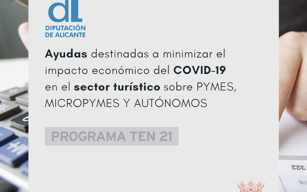 AYUDAS DESTINADAS A MINIMIZAR EL IMPACTO ECONÓMICO DEL COVID-19 EN EL SECTOR TURÍSTICO SOBRE PYMES, MICROPYMES Y AUTÓNOMOS DEL MUNICIPIO DE BENFERRI. PROGRAMA TEN 2021.